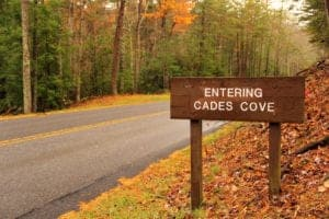 Entering Cades Cove in the fall