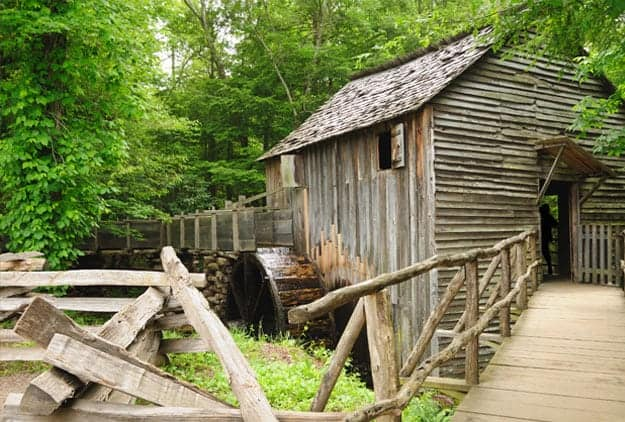 Cable Mill in historic Cades Cove in Great Smoky Mountains National Park