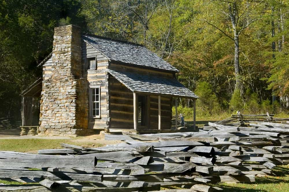 The John Oliver Cabin in Cades Cove.