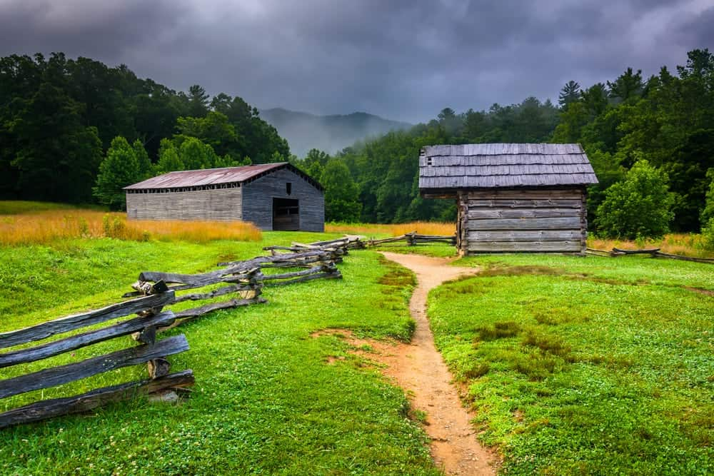 Historic barns in Cades Cove