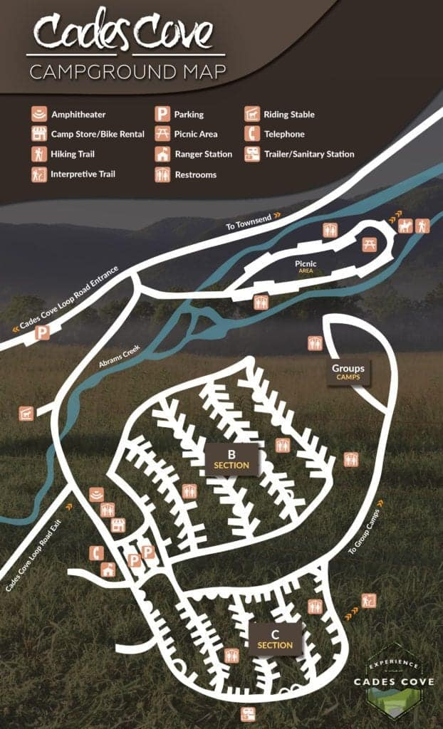 Cades Cove Campground Map